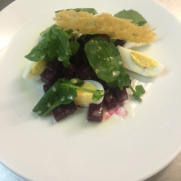 Beetroot Salad, Boiled Egg, Parmesan Crisp And Watercress