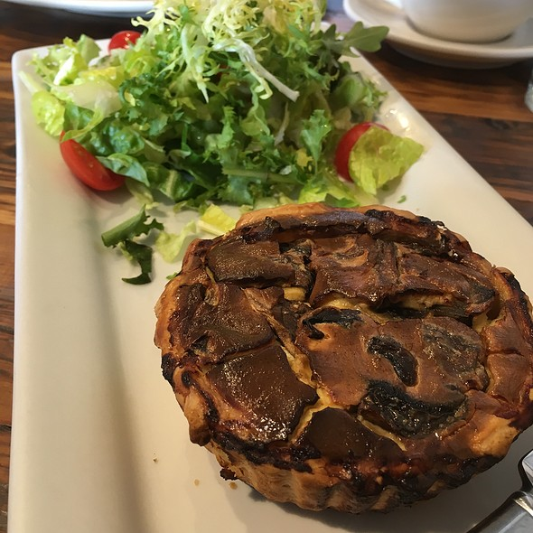 Mushroom Quiche With Side Salad