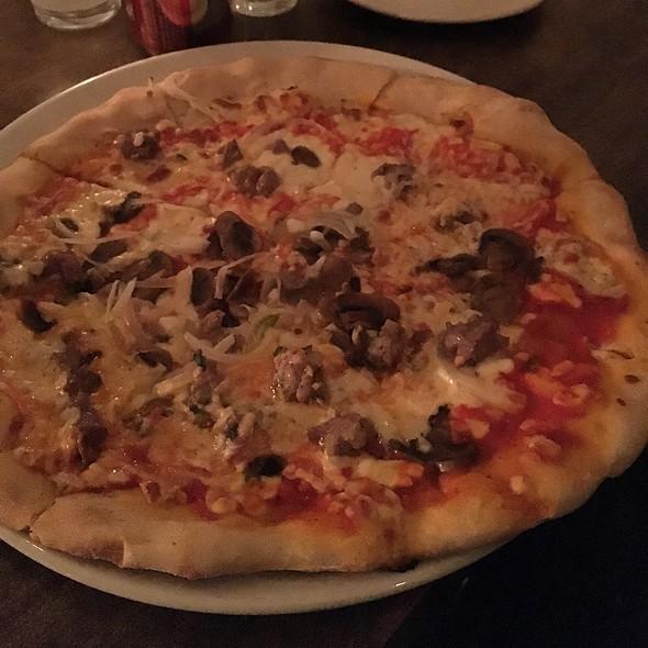 Homemade Sausage, Mushroom & Sausage Pizza