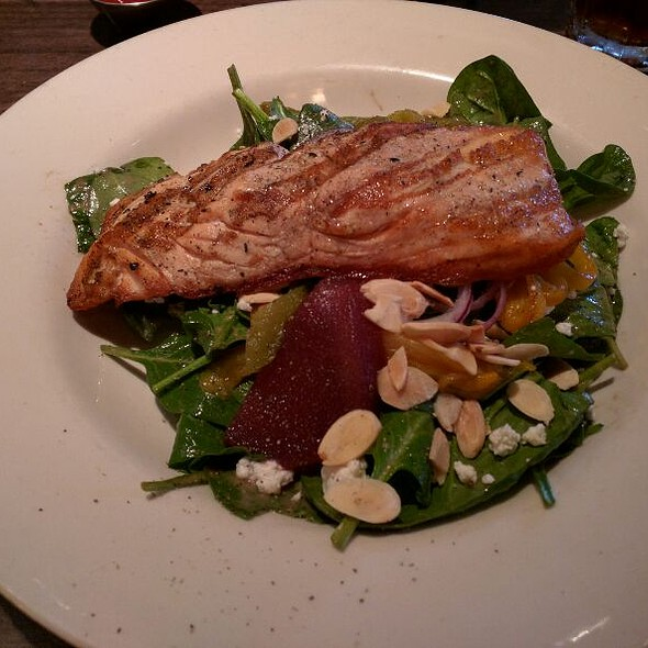 Mesquite Wood-Grilled Salmon & Spinach Salad - Tarragon, Sunnyvale, CA