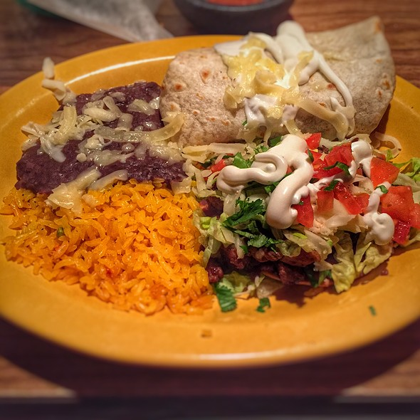 Carne Asada Burrito Y Tostada