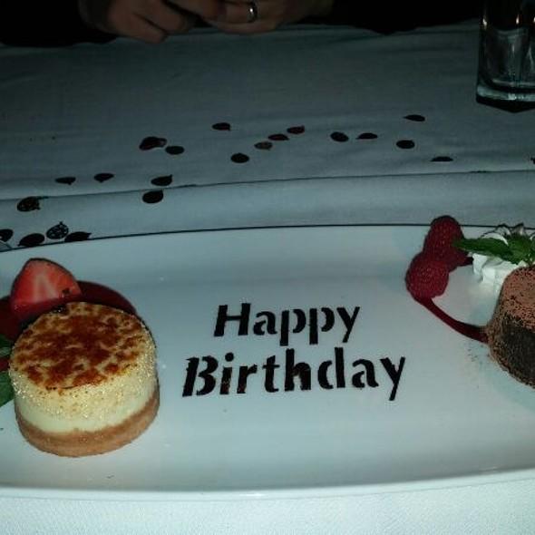 Birthday Dessert Sampler - The Capital Grille - Buckhead, Atlanta, Atlanta, GA