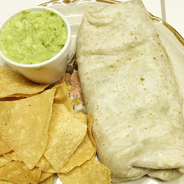Bean Burrito With Guacamole