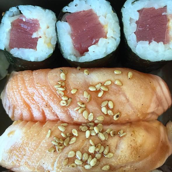 Spicy Tuna Maki Rolls & Teriyaki Sushi
