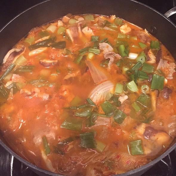 Homemade Pork Spicy Kimchi Jigae