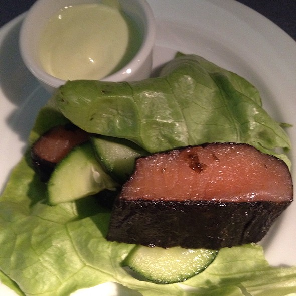 Nori Wrapped Smoked Salmon With Wasabi Cream