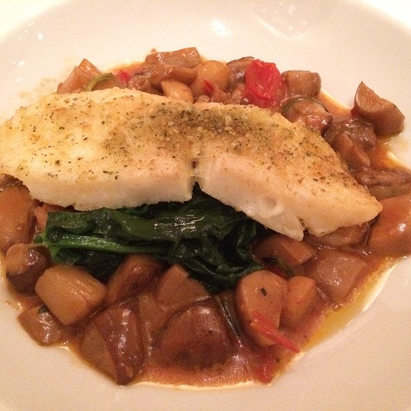 Halibut with Porcini Scallop Ragout