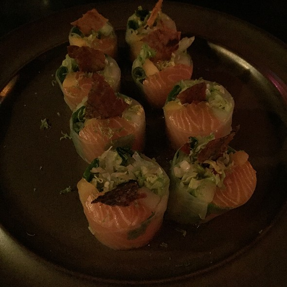 Cured Salmon Spring Roll