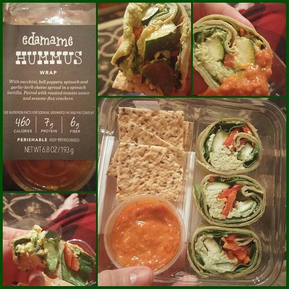Edamame Hummus Wrap