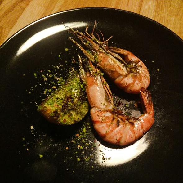 Roasted Prawns With Pistachio Pear
