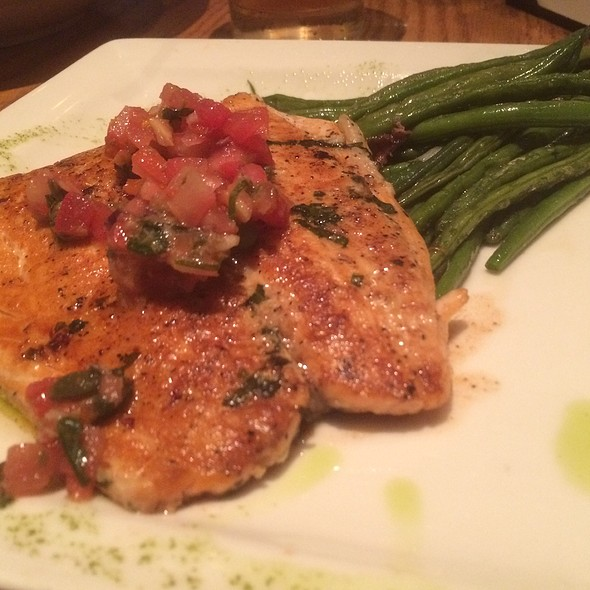 Grilled Salmon Wiht Basil Pesto And Parmesan Crust