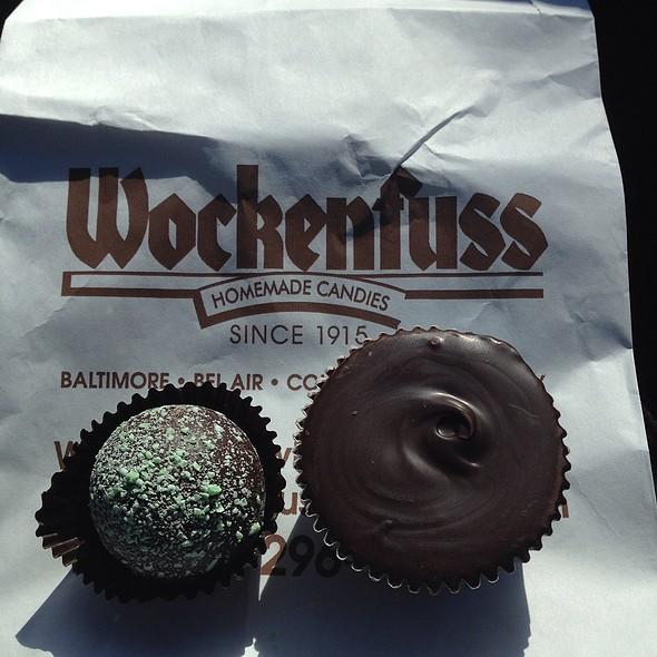 Peppermint Dark Chocolate Truffles @ Wockenfuss Candies