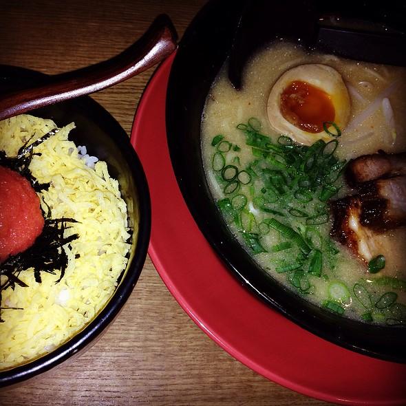 豊熟みそラーメンと明太子丼