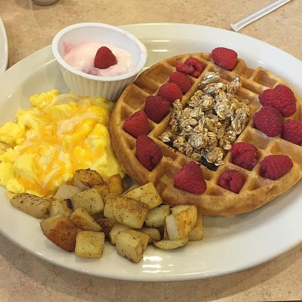 Raspberry Granola Waffle