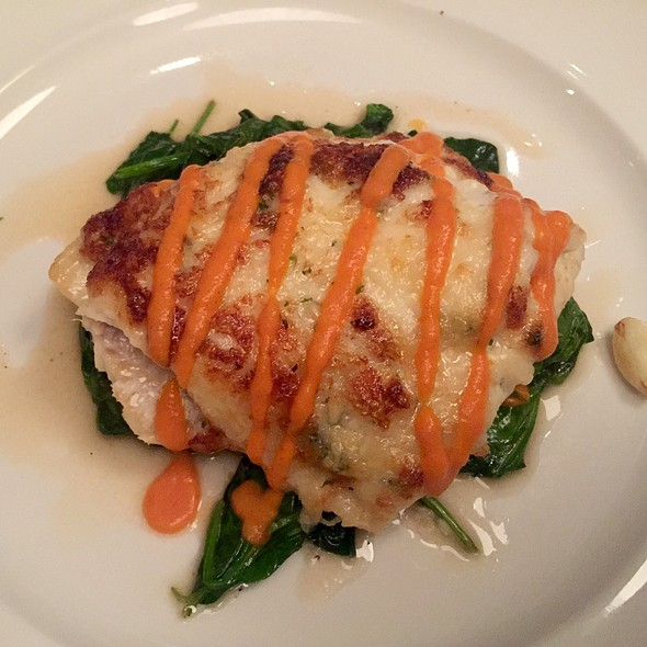 Crab And Parmesan Crusted Flounder