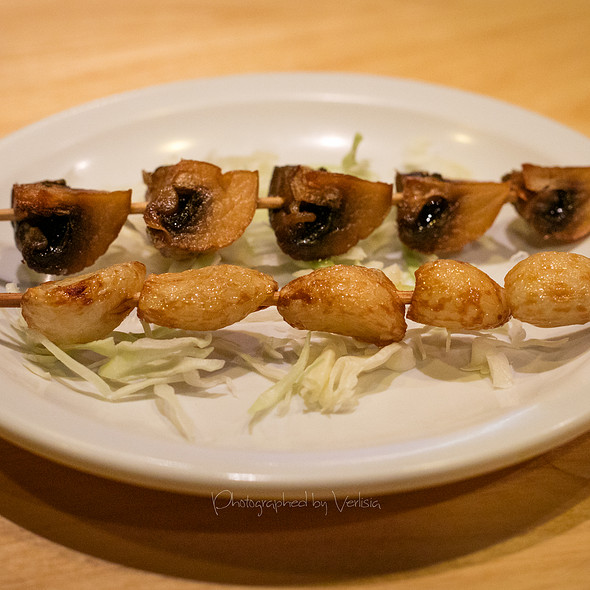 Garlic and Mushroom Skewers