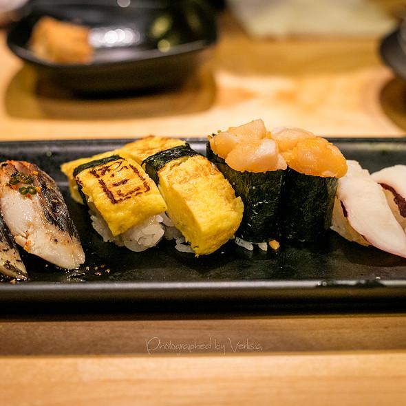 Fresh Water Eel, Tamago, Scallops and Octopus