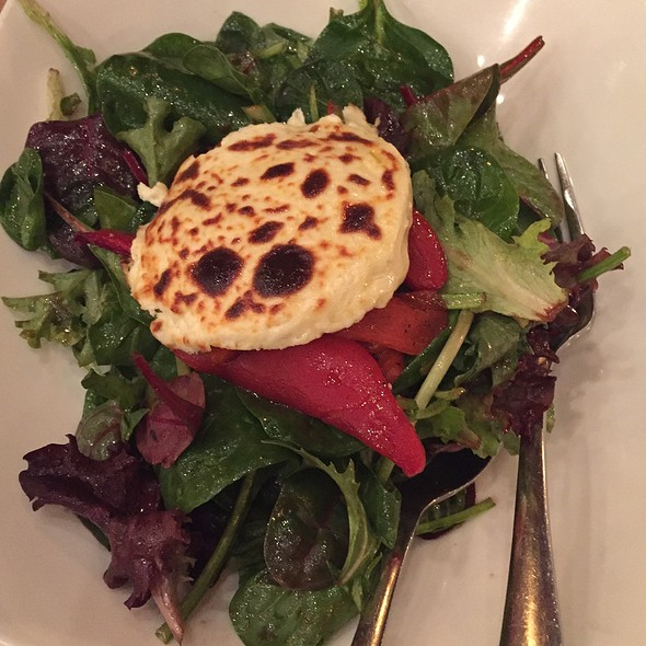 Mixed Greens With Baked Goat Cheese