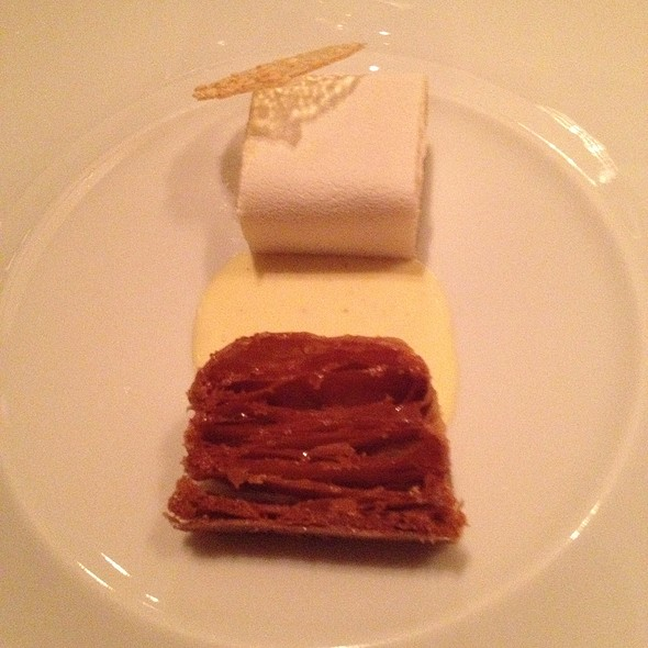 Mille Feuille With Pepper Cream Anglaise