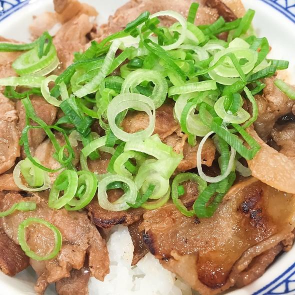 Grilled Pork Bowl @ Yoshinoya Shibuya