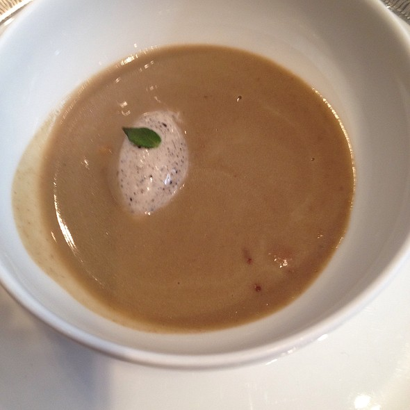 Truffle Mousse With Bean Cream Truffle Soup