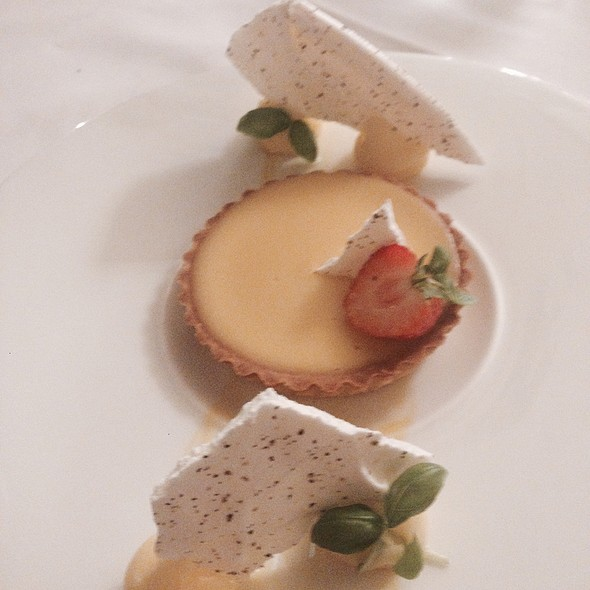 Lemon Tart With Black Pepper Meringue
