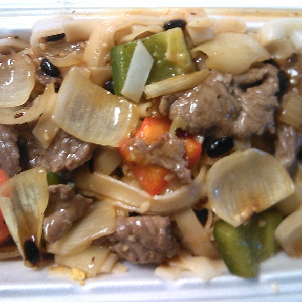 Stir Fried Beef and Black Bean Sauce with Rice Noodles