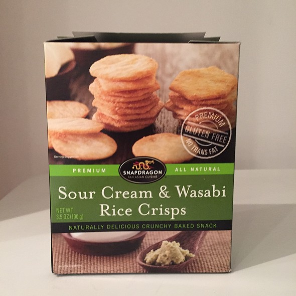 Sour Cream & Wasabi Rice Crisps