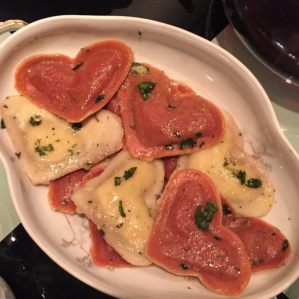 Heart Shaped Lobster Stuffed Ravioli
