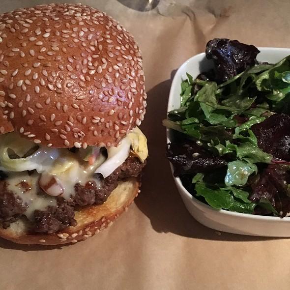 Gangnam Again Burger With Side Salad @ Brgr Bar