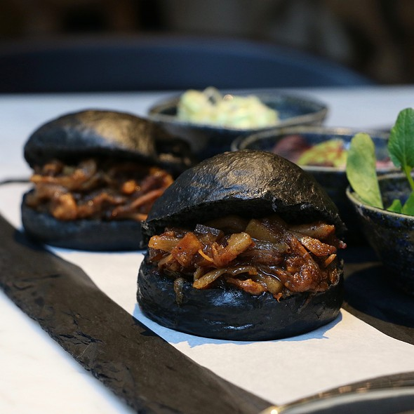 Charcoal Plum Mantou @ COBO HOUSE By 2am : dessertbar