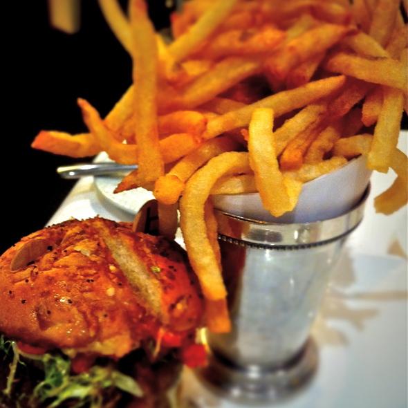 Original db Burger and french fries @ DB Bistro moderne