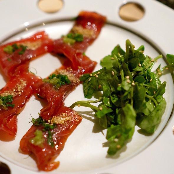 Zuke tuna carpaccio - Soto, New York, NY