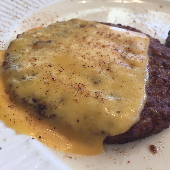 Black Bean Burger With Cheese @ The Cornerstone