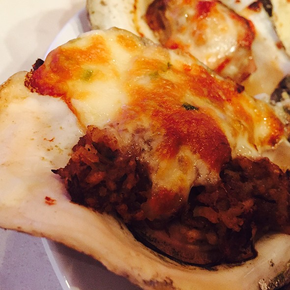 Boudin And Cheese Baked Oyster @ Jolie Pearl Oyster Bar