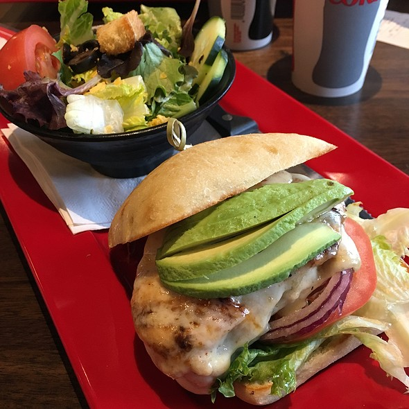 Grilled Chicken Avocado Sandwich @ Blazing Onion