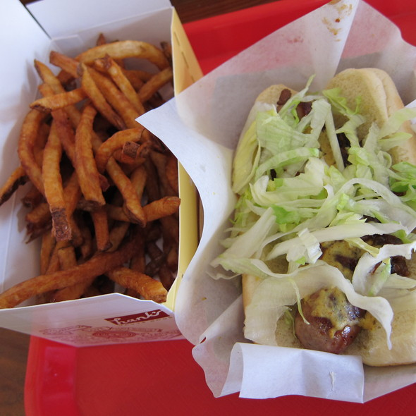 Duck and Foie Gras dog, Duck Fat Fries @ Hank's Haute Dogs