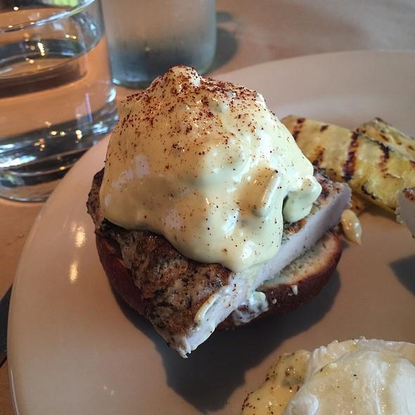 Poblano Eggs Benedict - Lucky's Restaurant, Tulsa, OK