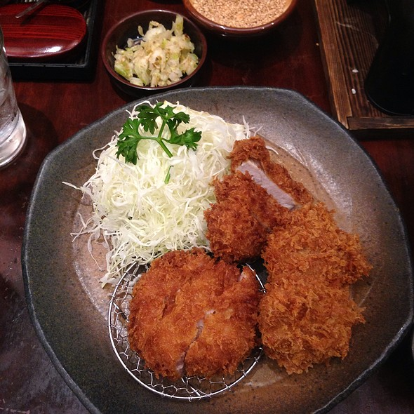 My mixed Katsu dinner set --- Hire(pork tenderloin) & Seafood Katsu Set :) ••• 'Di ko naubos, totoo!!