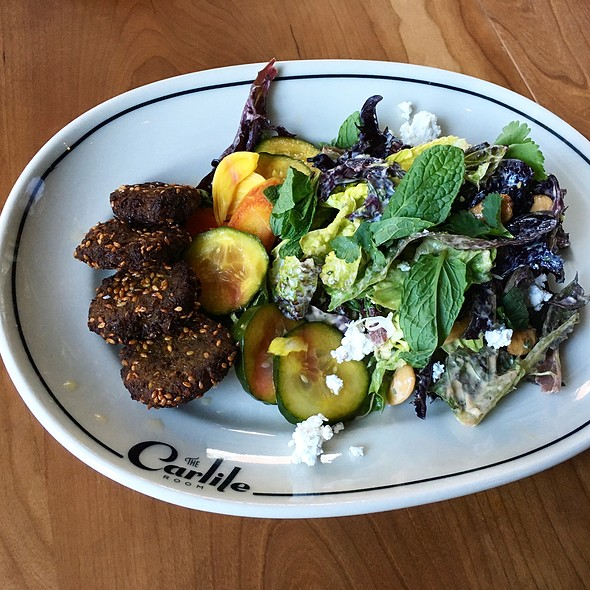 Falafel With Pickles, Salad @ The Carlile Room