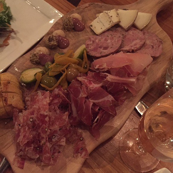 House Made Charcuterie & Artisan Cheese Pickled Vegetables – Orange Zest Olives  @ Valette