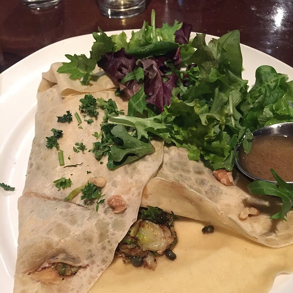 Shaved Brussel Sprout Crepe