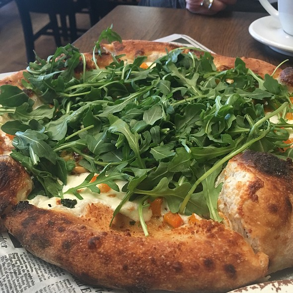 Butternut Squash, Burrata, And Arugula Pizza