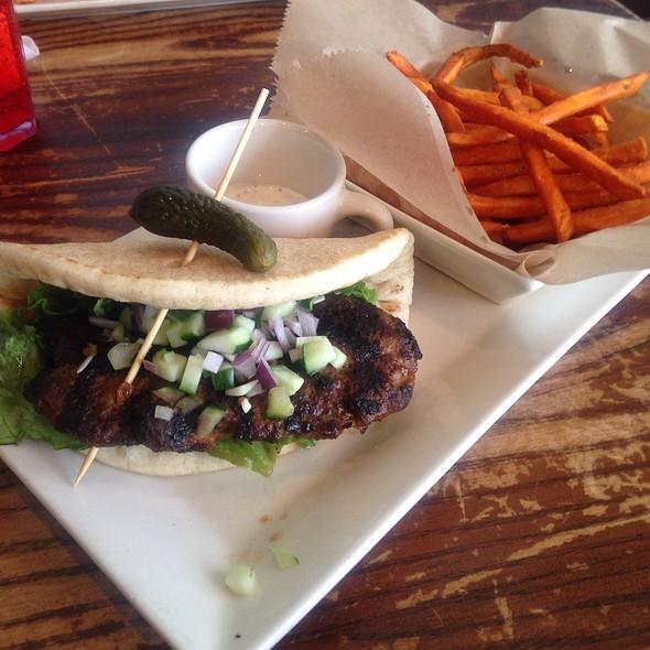 Mediterranean Lamb Burger @ Busboys & Poets
