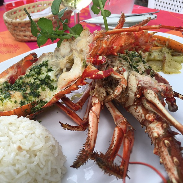 grilled lobster @ Taino Haiti