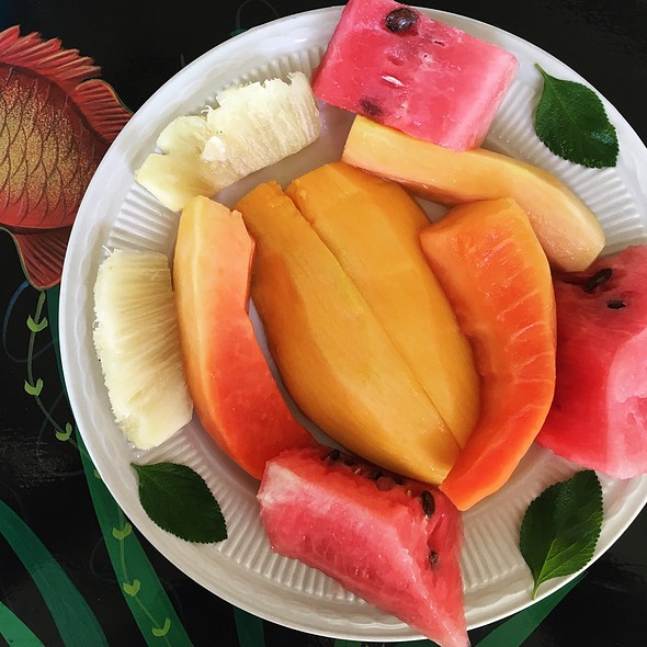Fruit Plate @ Hotel Oloffson