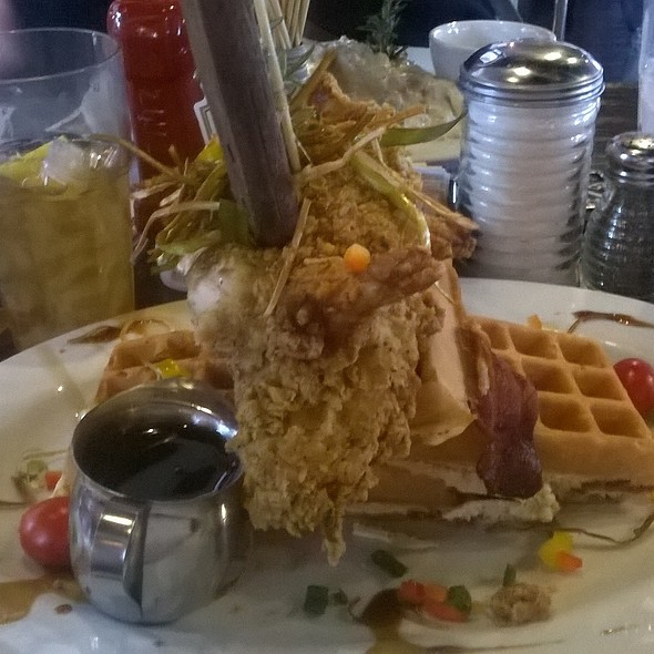 Andy's Sage Fried Chicken & Bacon Waffle Tower @ Hash House A Go Go