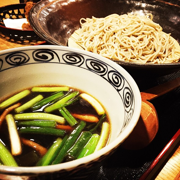 Soba With Duck Broth-Based Dipping Sauce @ Soba Azuma