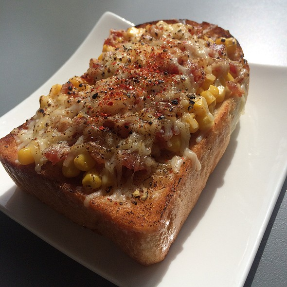 Bacon And Corn Toast @ Home Cafe