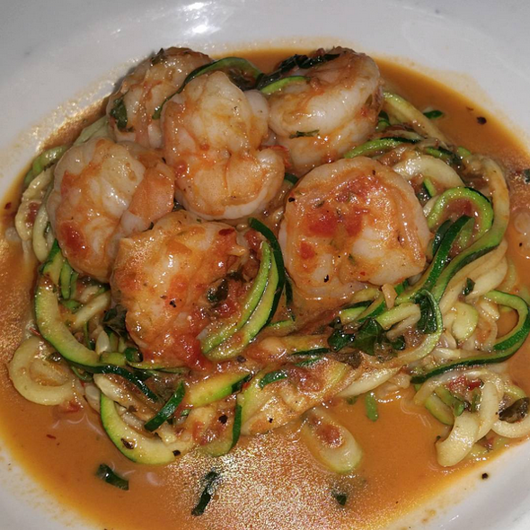 Shrimp with Zucchini Pasta